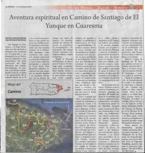 El Visitante Noticia Camino de Santiago El Yunque marzo_2015